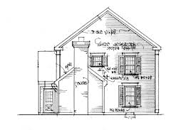 saltbox house plan maumee right elevation building plans online
