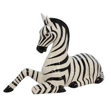 ceramic decorative zebra ornament tutti decor ltd