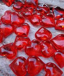 Fruit Vase Filler Vase Filler Acrylic Heart Gems 1 In X 1 In 100 Pieces Red