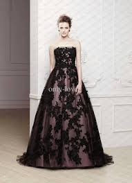 black lace wedding dresses discount black lace a line wedding dresses strapless sleeveless
