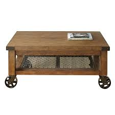 Distressed Oak Coffee Table Steve Silver Hailee Coffee Table In Distressed Oak Ha150c