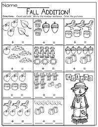 simple addition sentences for fall ideas pinterest