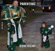 Meme Cosplay - space marines from the dark angels chapter warhammer 40000 cosplay
