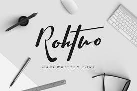 rohtwo bold signature script fonts creative market