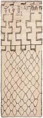 vintage ivory beni ourain moroccan rug 46511 by nazmiyal