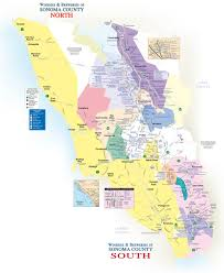 Northern California County Map Sonoma County Winery U0026 Brewery Map 101 Things To Do Wine Country