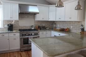 granite countertop kitchen cabinet door handle backsplash tiles