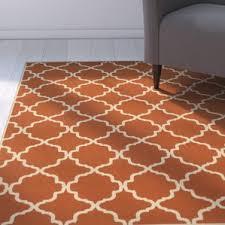 orange outdoor rugs you u0027ll love wayfair