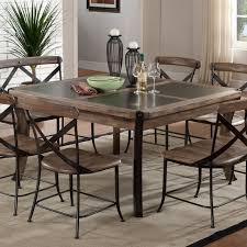 metal and wood dining room table 7753
