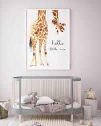 Giraffe Nursery Decor Vibrant Safari Wall Together With Giraffe Animal Nursery Decor