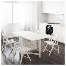 norden gateleg table white 26 89 152x80 cm ikea