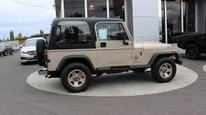 gold jeep 1994 jeep wrangler sahara yj gold rp419023 mt vernon