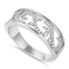 sterling silver ornaments cz ring