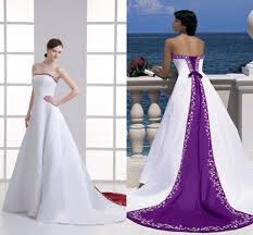 purple wedding dresses purple and white wedding dresses dress ty