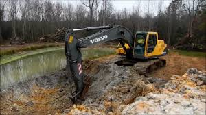 volvo address volvo 210 excavator extending pond youtube