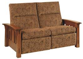 amish mccoy mission recliner loveseat with optional power recliner