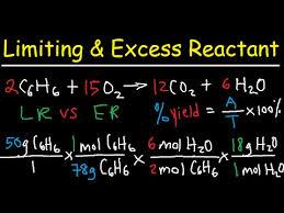 excess reactant stoichiometry left over limiting reactant