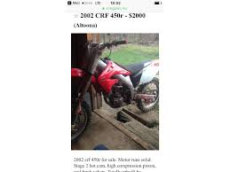 honda crf in pennsylvania for sale used motorcycles on