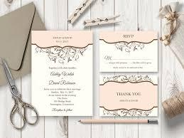 diy wedding invitations templates vines wedding invitation set 席札
