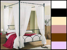 Four Poster Bed Curtains Drapes Four Poster Bed Curtains Ebay