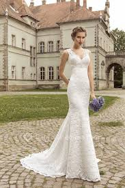 simple lace wedding dresses v neck lace mermaid wedding dresses 2018 lace up sleeveless simple