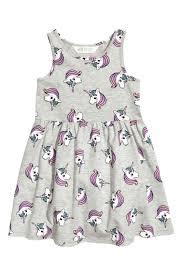 robe en jersey à motif unicorns clothes and babies