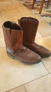 s justin boots size 12 justin s usa copper brown leather pull on work boots 4760