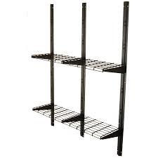 Metal Shelves For Storage Shop Suncast Black Powder Coated Metal Storage Shed Shelf At Lowes Com
