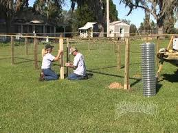 How To Build Backyard Fence Dog Kennel Fence Installation Part 2 Of 2 Youtube