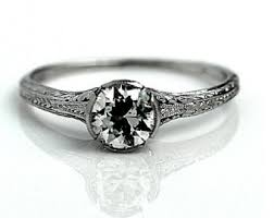 deco engagement ring vintage deco engagement ring etsy