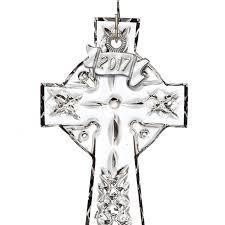 waterford mini cross ornament 2017 silver