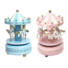 Game Home Decor Merry Go Round Wooden Music Box Toy Child Baby Game Home Decor
