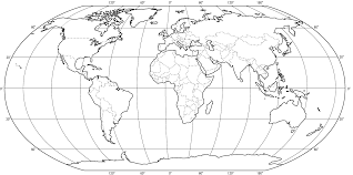 World Map With Longitude And Latitude Lines by Quiz Of The Day