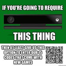 Xbox One Meme - xbox one s kinect camera will be able to read qr codes