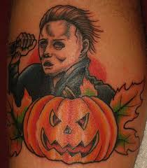 michael myers of halloween leg tattoos michael myers pinterest