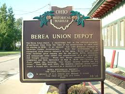 Berea Ohio Map by Railroad Stations In Ohio