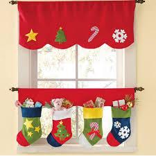 Window Curtains Amazon by Amazon Com Sandistore Door Window Drape Panel Christmas Curtain