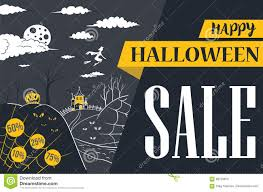 halloween banner sale vector illustration stock vector image