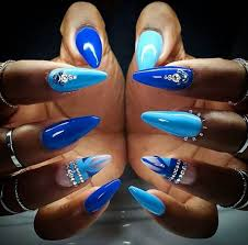 the 25 best blue stiletto nails ideas on pinterest claw nails