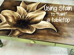 staining a table top shade painting with stain tabletop create and craft