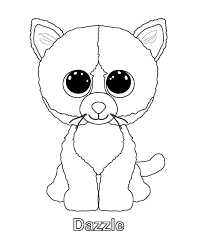 dazzle cat beanie boo coloring page google search coloring