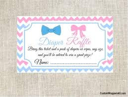 raffle baby shower shower raffle ticket gender reveal bow