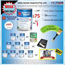 mega offer promotion paint sale with any nippon odour less