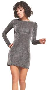 silver new years dresses reformation silver metallic bodycon cocktail dress size 2 xs