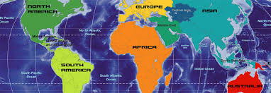 Blank Map Of Continents And Oceans by Continents Of The World Africa The Americas Asia Australia