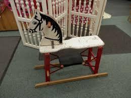 Vintage Childrens Rocking Chairs Rare Vintage 1950 U0027s Safe T Colt Rocking Hobby Glider