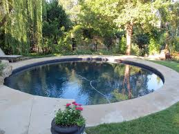 pool heavenly circular pools surrounded by green plants and