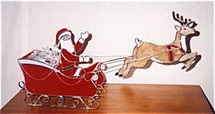 santa sleigh and reindeer santa sleigh and reindeer candy dish and seasonal