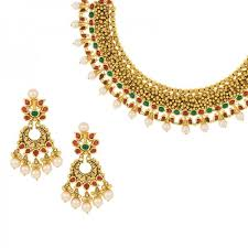 collar necklace images 22k antique gold collar necklace raj jewels jpg