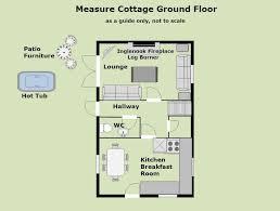 Floor Plan Measurements Measure Cottage Shakespeare Holidays